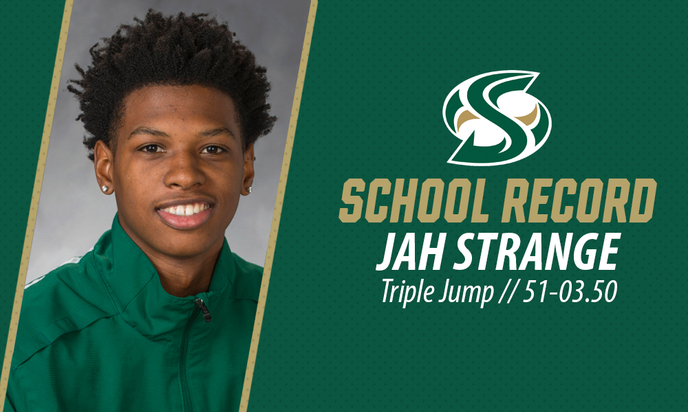 STRANGE SETS SCHOOL RECORD  IN THE TRIPLE JUMP AT NEW MEXICO CLASSIC