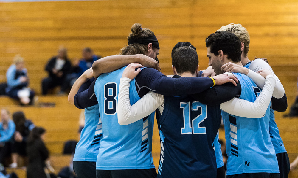Men's volleyball drop five-setter to Fanshawe