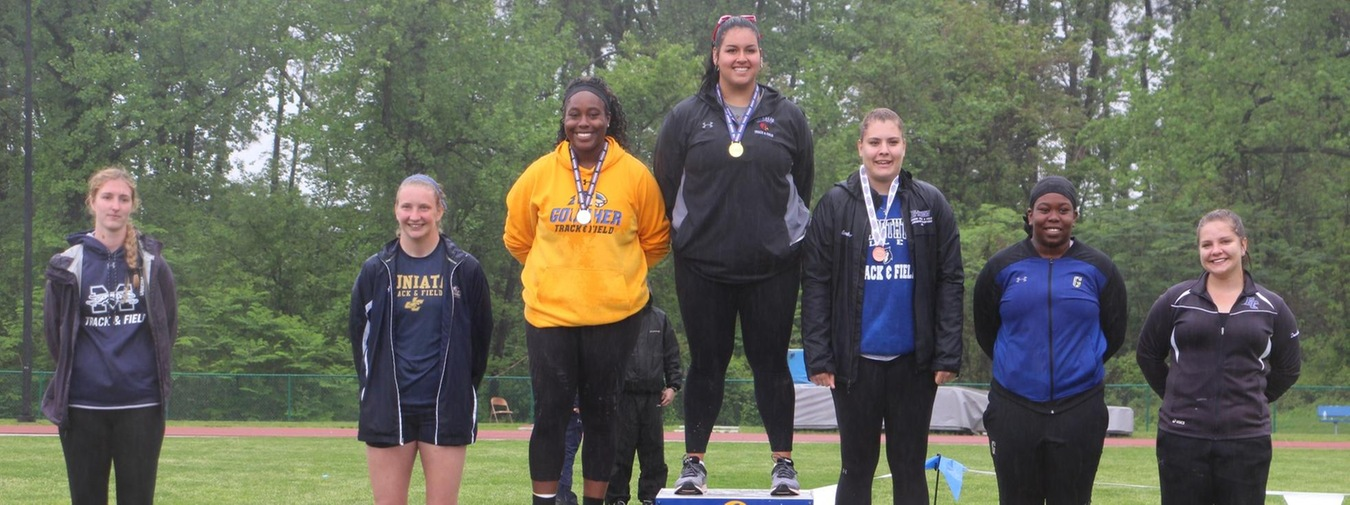 Gunter And Gallina Medal To Pace Goucher Track And Field At Landmark Conference Championships