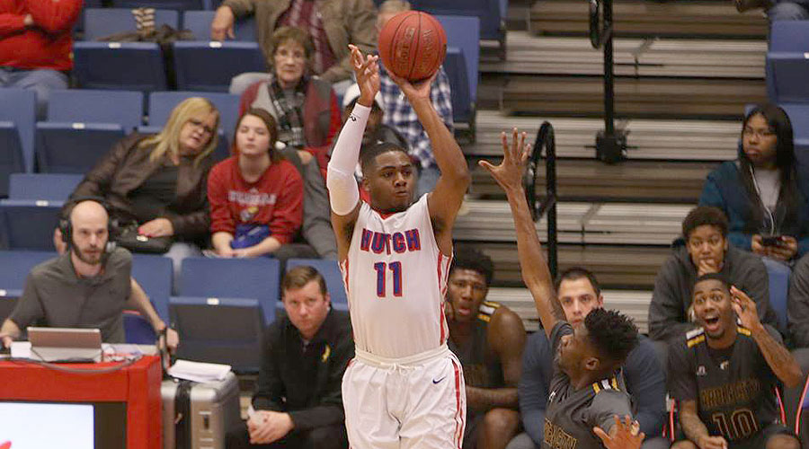J.J. Rhymes hit the game winner at the buzzer in the Blue Dragons' first meeting with Butler on December 6. What will happen when Hutch and Butler meet again on Saturday at the Sports Arena. (Joel Powers/Blue Dragon Sports Information)