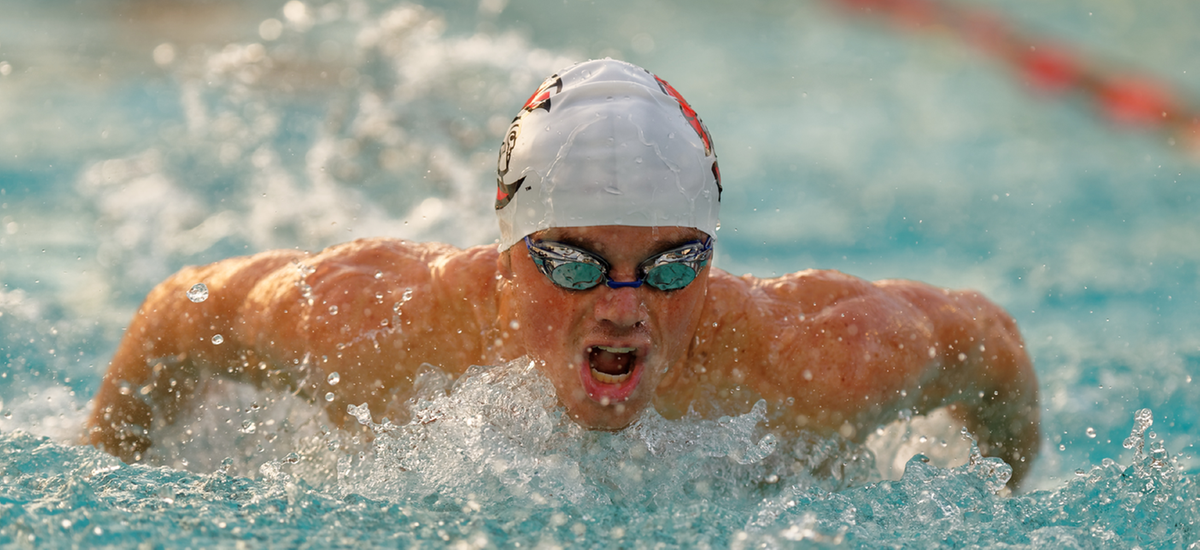 Freshman Brett Saunders became the school-record holder in the 400 IM.