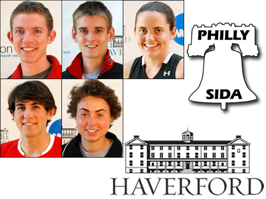 (Clockwise, from top left): Andrew Sturner '12, Eric Arnold '12, Mary Hobbs '13, Emily Lipman '12, Alejandro Rettig y Martiniz '12.
