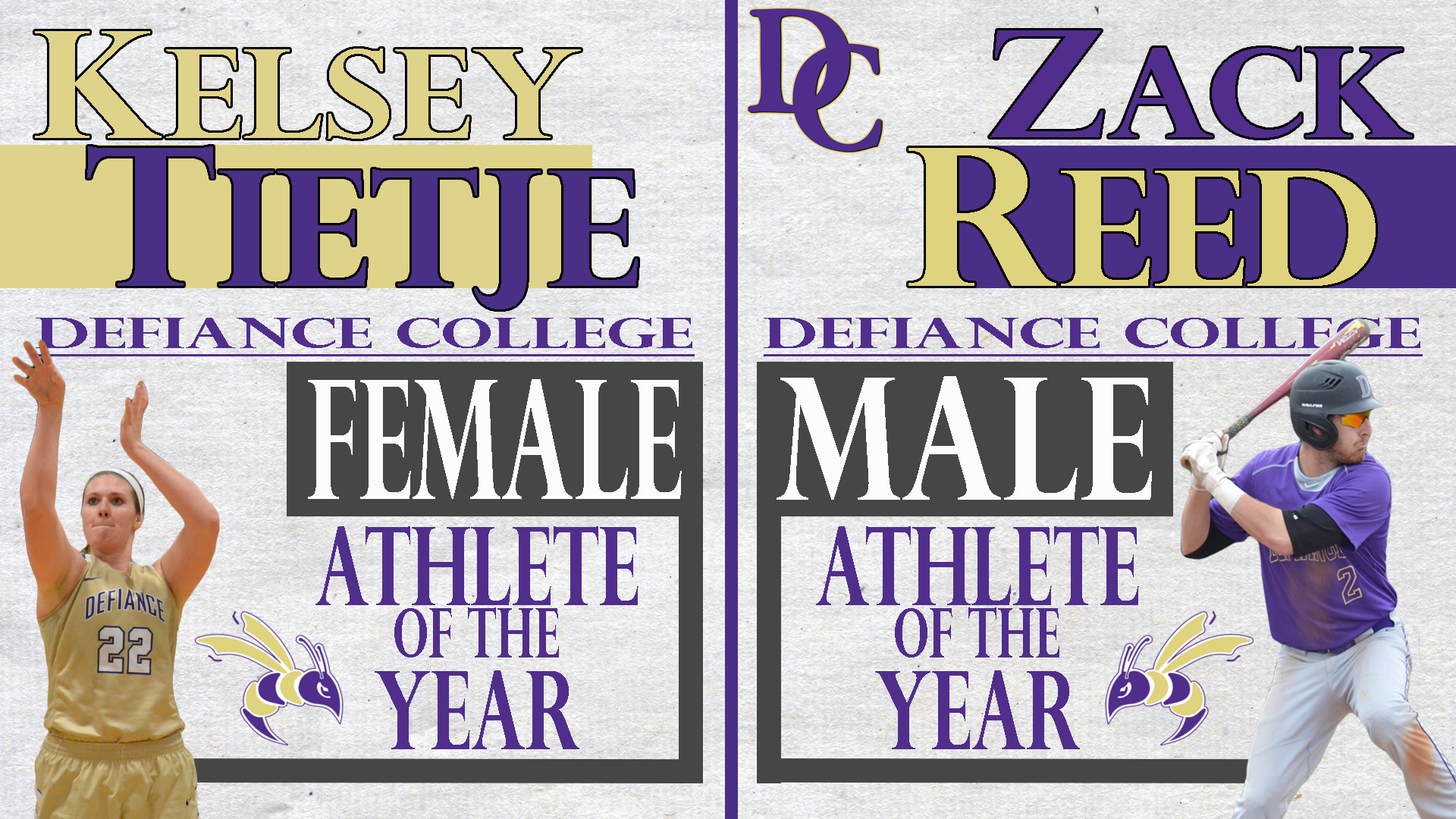 Defiance Announces Male and Female Athlete of the Year