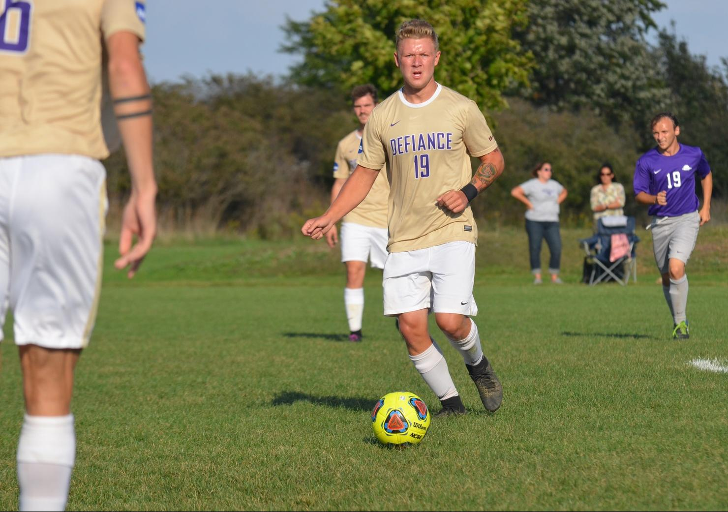 Men's Soccer Narrowly Defeated on the Road