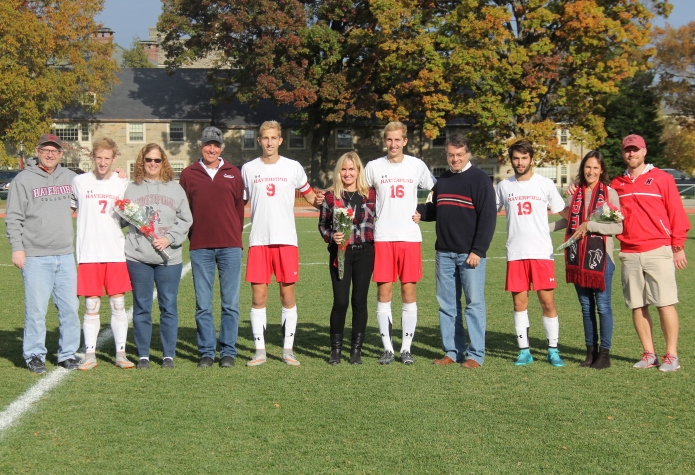 Men's Soccer Celebrates Seniors with 3-0 Victory vs. Swarthmore