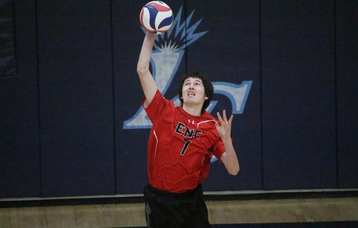 Men's Volleyball Absorbs 3-0 Loss at Lasell