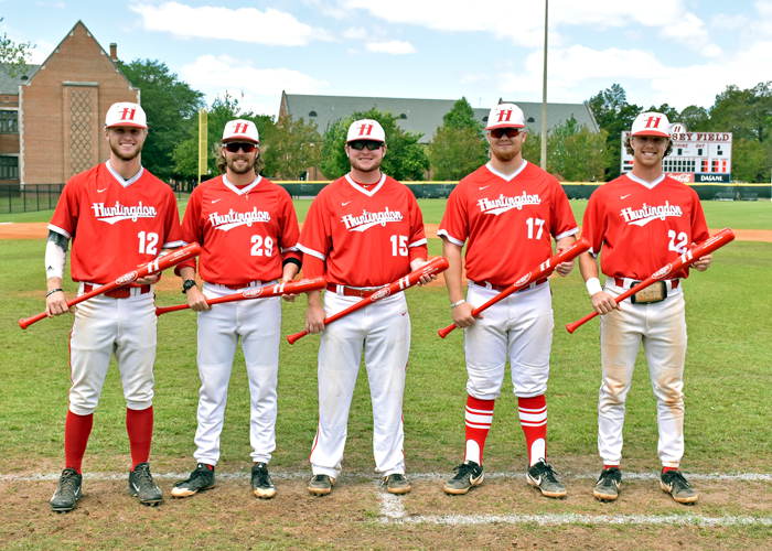 The Huntingdon baseball team recognized its seniors during Senior Day on Saturday.