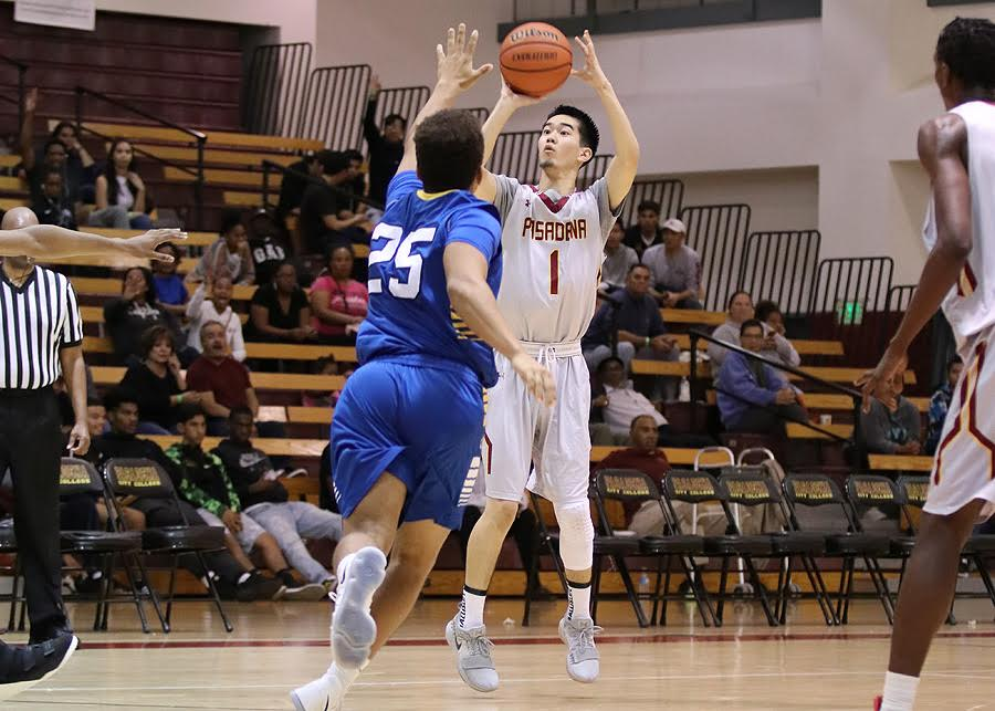 Lancer Todd Kitagawa had two strong performances as part of PCC's consolation title at the Skip Robinson Classic this weekend, photo by Richard Quinton.