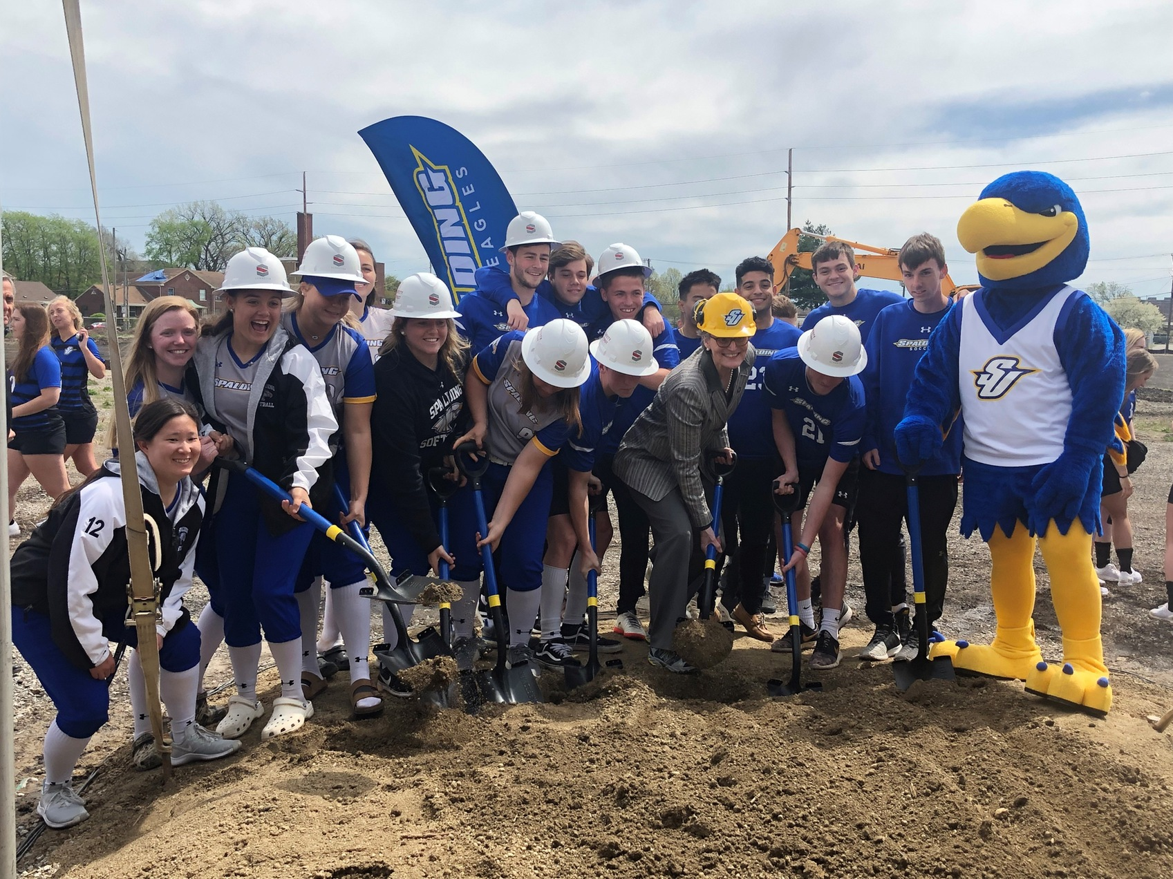 Spalding Breaks Ground on Athletic Facility