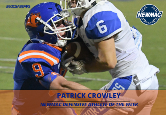 Patrick Crowley Named NEWMAC Defensive Athlete of the Week