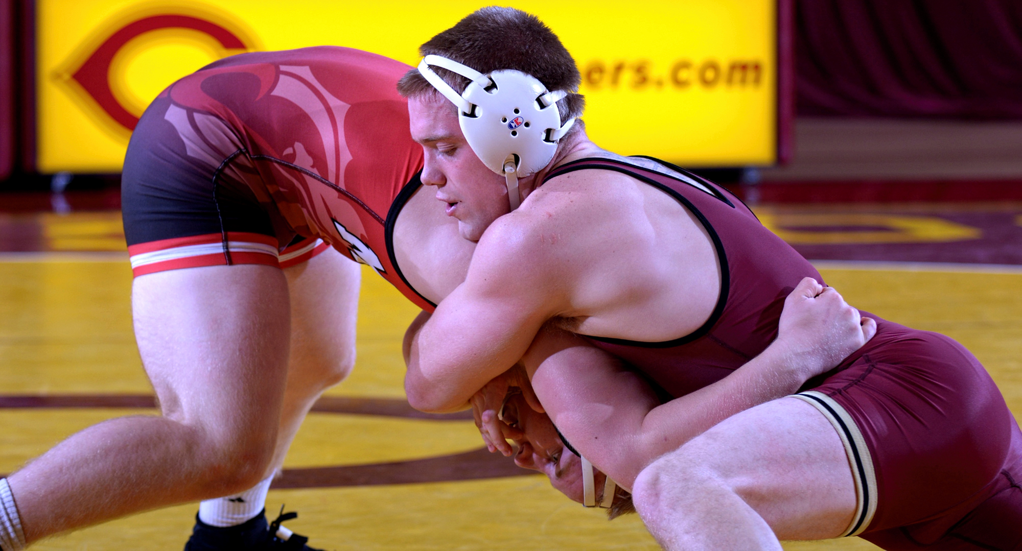 No.9-ranked Ricky Briggs was one of four Cobbers to score a bonus point win in the team's win over Univ. of Mary.
