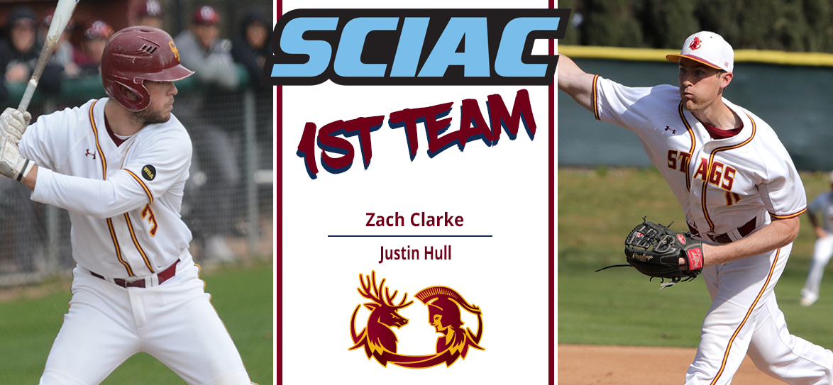 Zach Clarke, Justin Hull Named First-Team All SCIAC for CMS Baseball