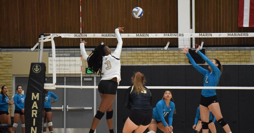 Volleyball Sweeps Away Mission College Saints At Home