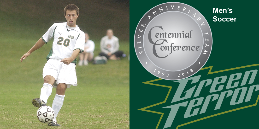 Scott Morrow makes the Centennial Conference Silver Anniversary Team for men's soccer.