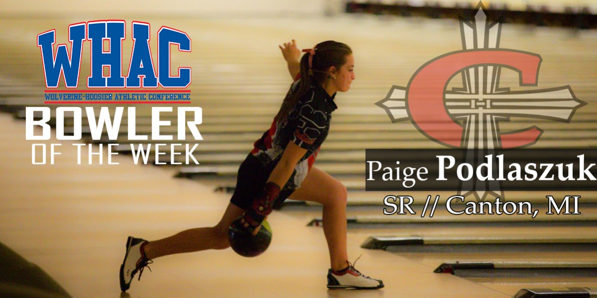 Photo for WOMEN'S BOWLING WINS 2ND STRAIGHT LED BY WHAC PLAYER OF THE WEEK PAIGE PODLASZUK