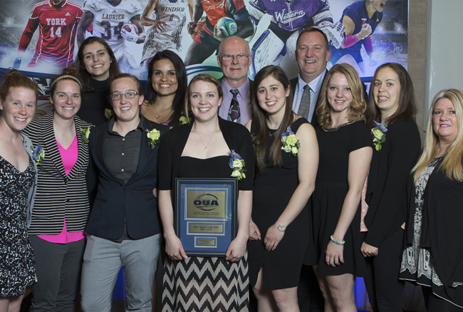 Mustangs Women's Hockey named OUA Team of the Year at 2015 Honour Awards