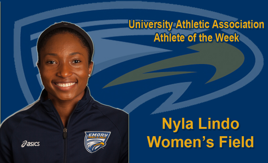 Nyla Lindo Selected as UAA Women's Field Athlete of the Week