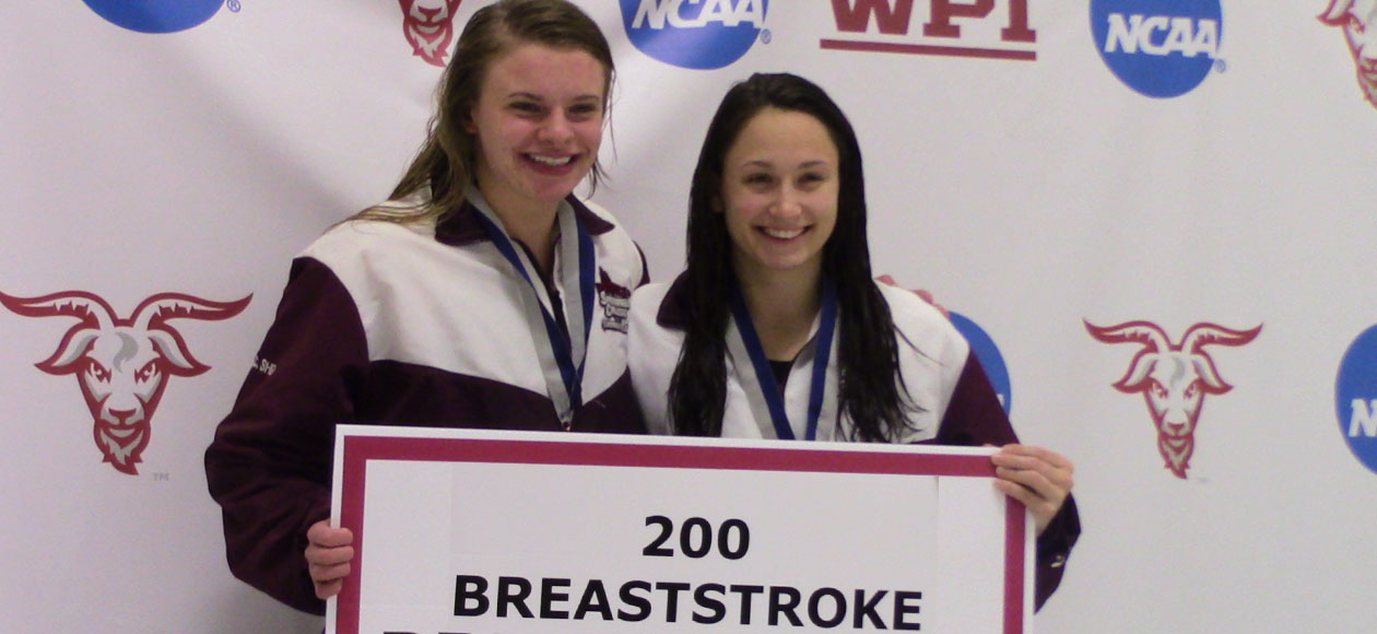 Medeiros Sweeps Career Breast Events as Women's Swimming and Diving Takes Fourth at NEWMAC Championships