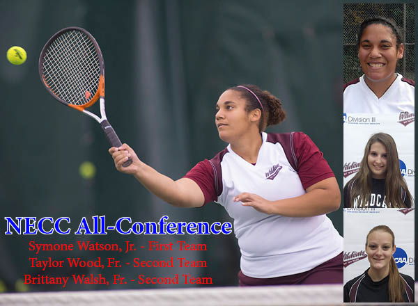 Watson, Walsh and Wood Named All NECC Women's Tennis