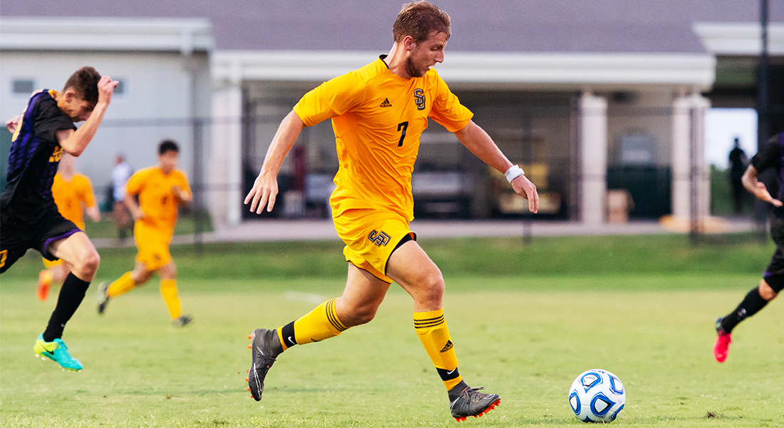 Men's Soccer Wins First Conference Game
