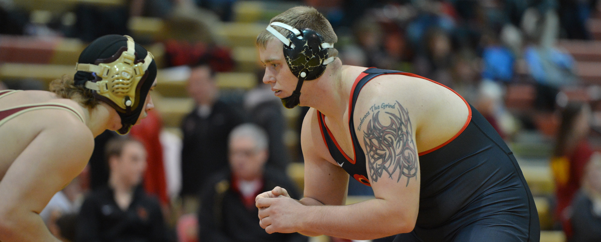 Colby Vlieger won the 285-pound bracket to lead the Storm at the Central Under Armour Invitational.