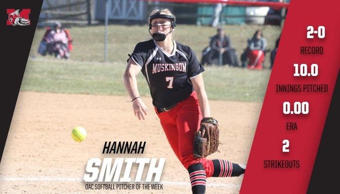 Smith named OAC Softball Pitcher of the Week
