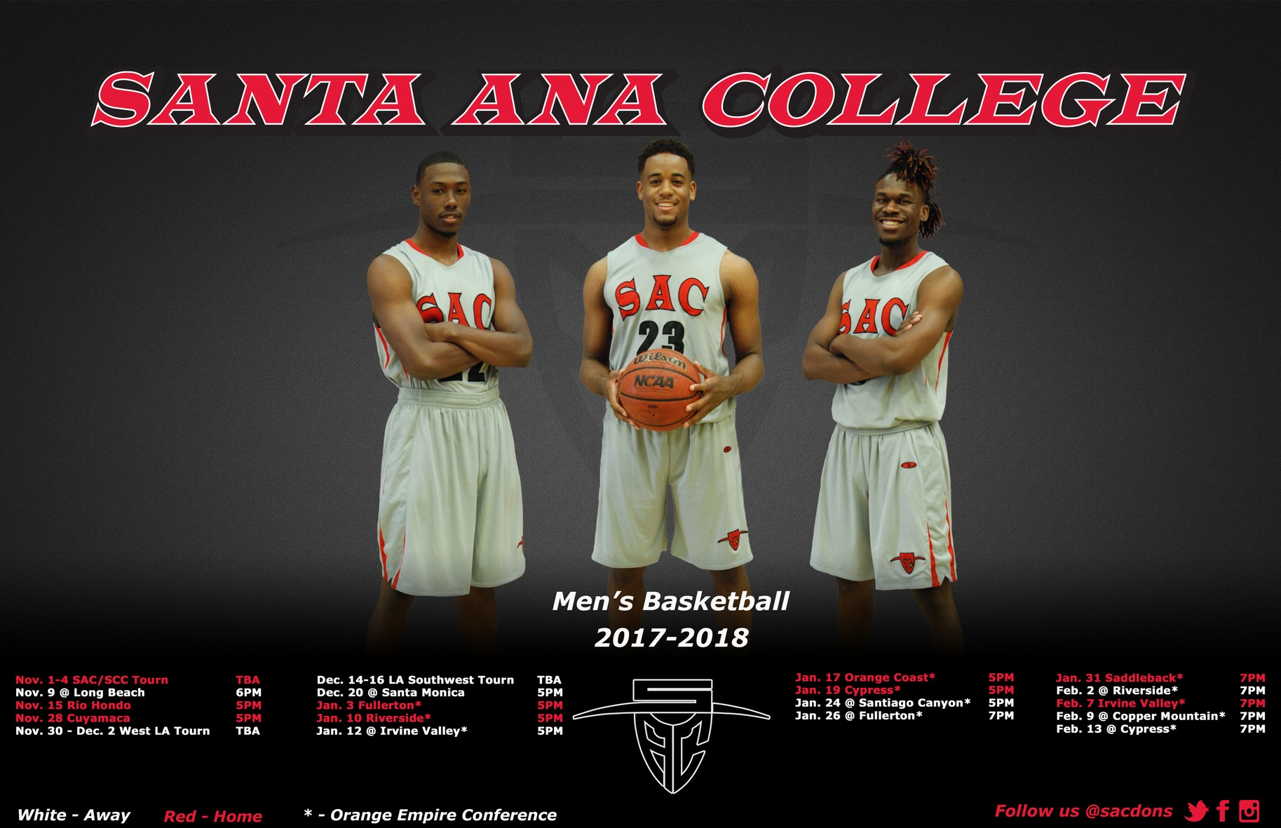 Santa Ana Hosts Bakersfield College to Open the Season