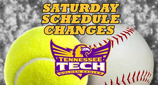 Schedule changes announced for Saturday's action