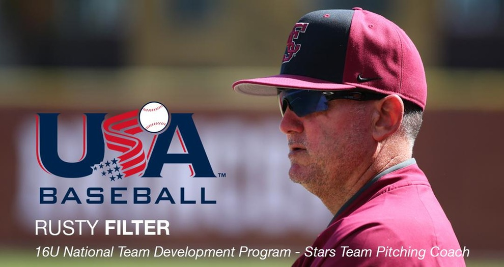 Filter Set to Begin USA Baseball Coaching Assignment at National Training Complex
