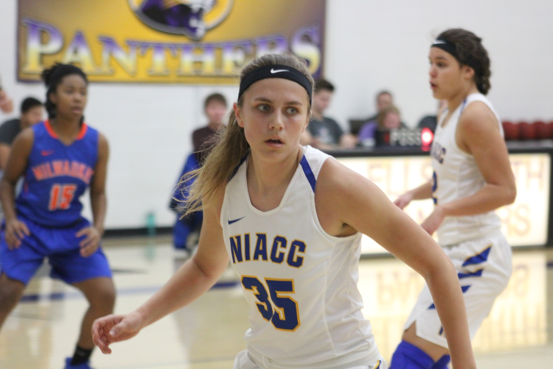 NIACC's Kelsie Willert plays defense in first half of Friday's game against Milwaukee Area Tech.