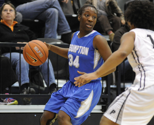 Hounds Fall at Purple Knights, 60-59
