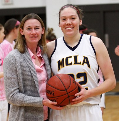 Jen Wehner is the all time leading scorer and rebounder in program history, and the only player with over 1,000 points and rebounds.  She led MCLA to their only NCAA appearance in 2010