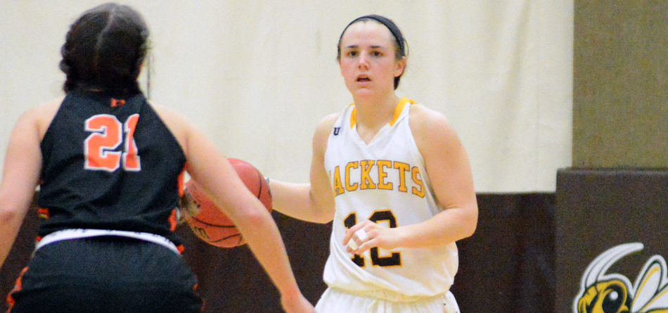 Junior All-OAC guard Riley Schill scored 13 points in BW's win over Heidelberg (Photo courtesy of Hailey Owens)