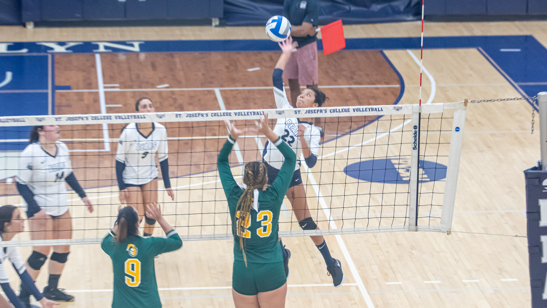 Women's Volleyball Downs NJCU for First Win of Season