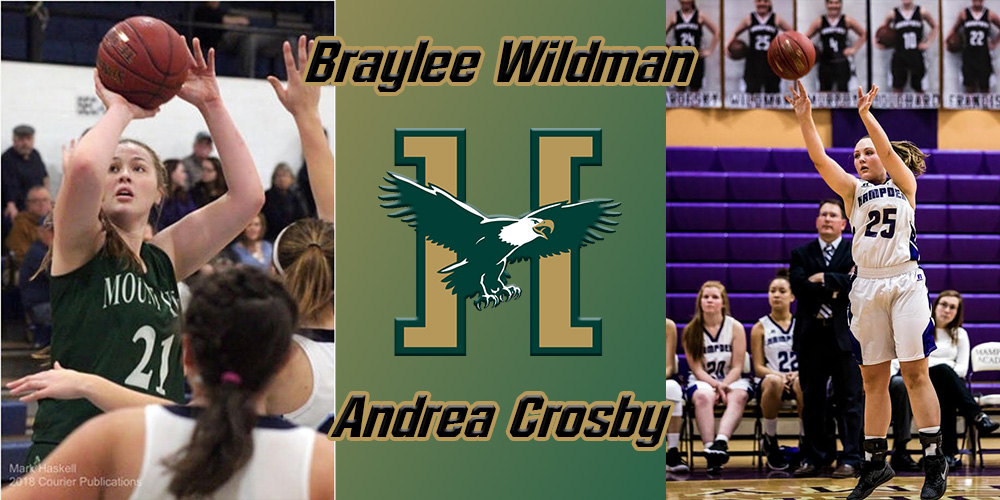 Women's Hoops Receives Commitments for '18-19 Season From Crosby and Wildman