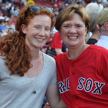 Pasquerella and Carol - Red Sox
