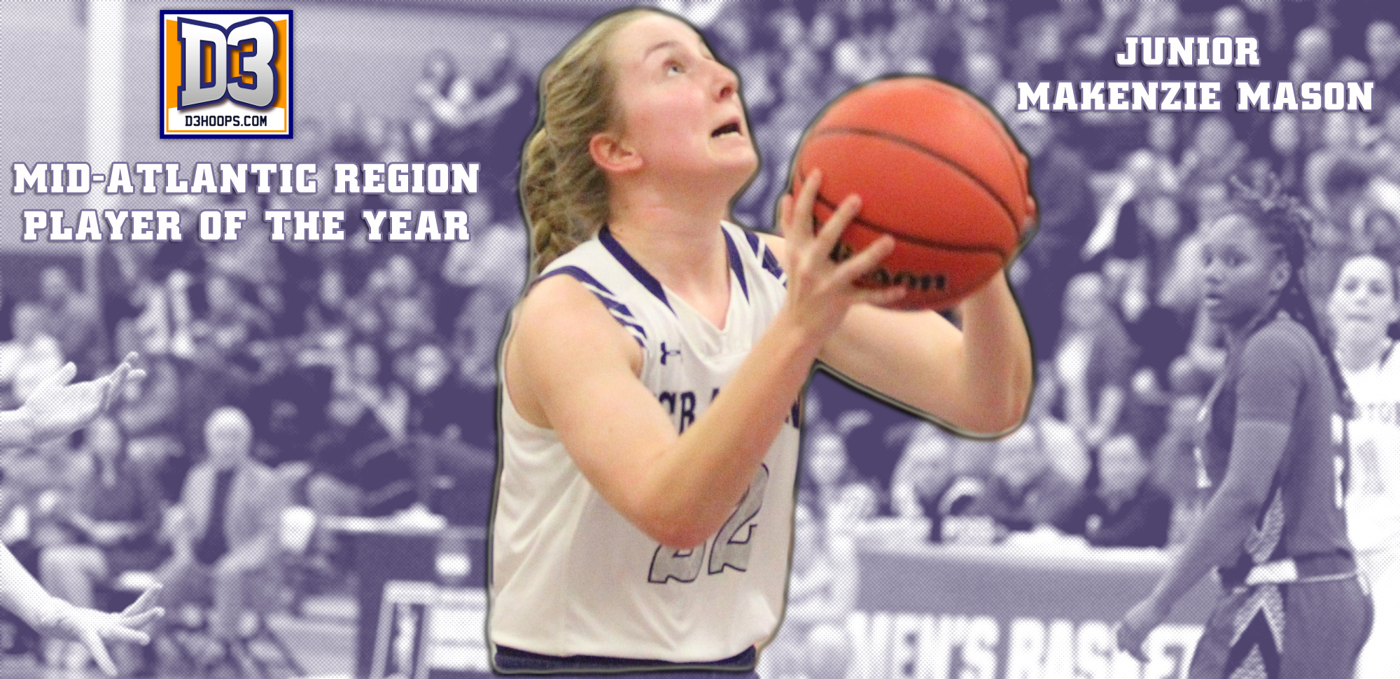 Makenzie Mason Named D3hoops.com Mid-Atlantic Region Player of the Year