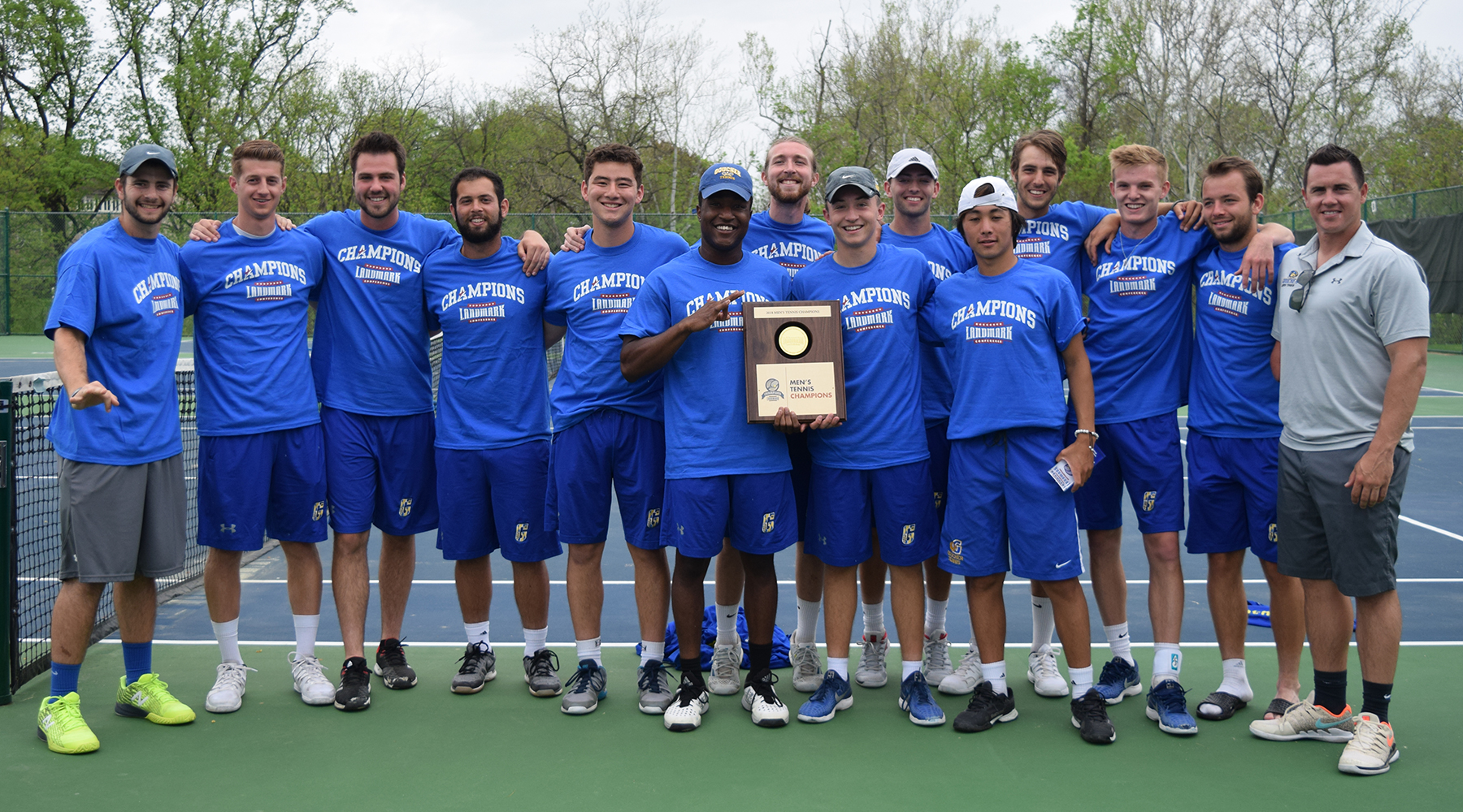 Thrice as Nice: Men's Tennis Takes Third Straight Landmark Conference Crown with 5-2 Win Over Scranton