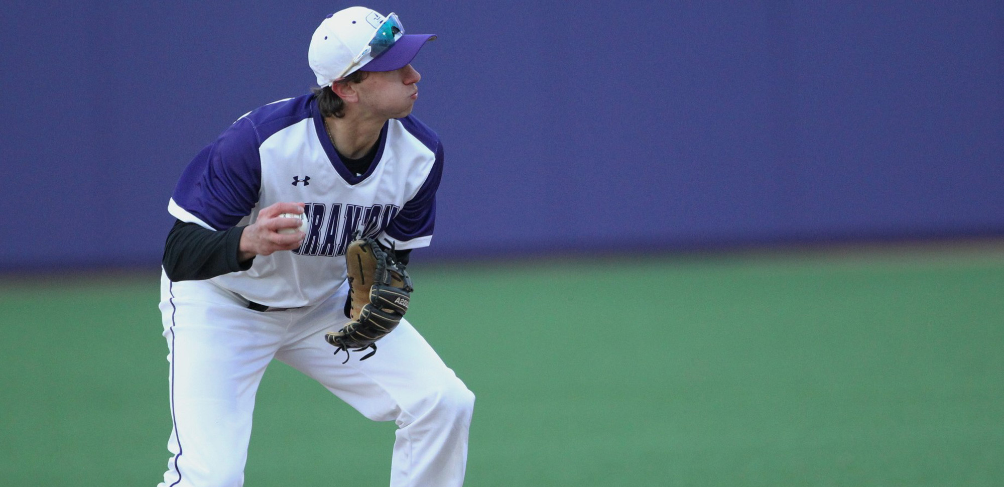 Sophomore Brandon Peters tripled, doubled twice, scored three runs and drove in two on Monday night.
