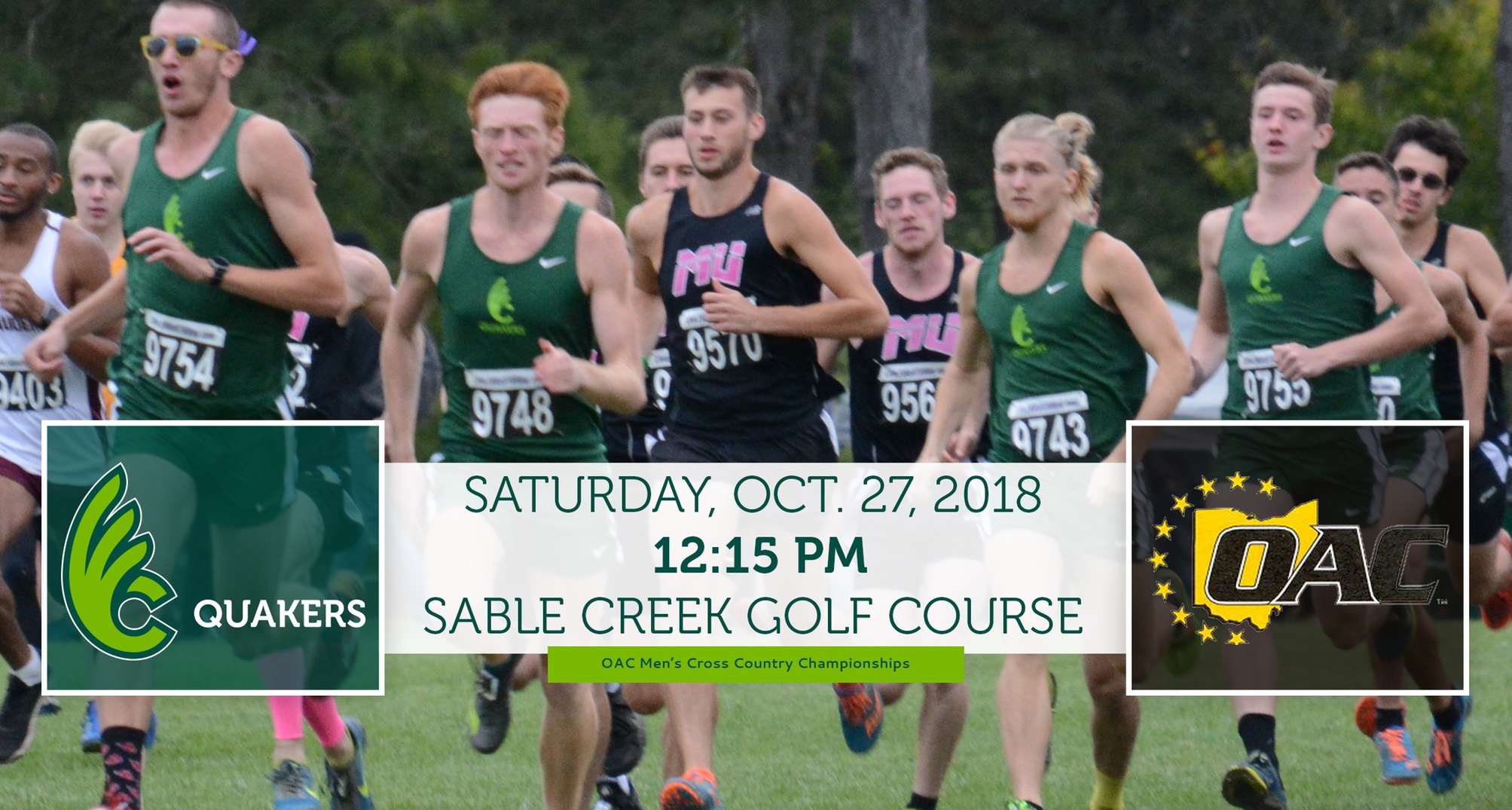 Men's Cross Country Travels to OAC Championships Saturday