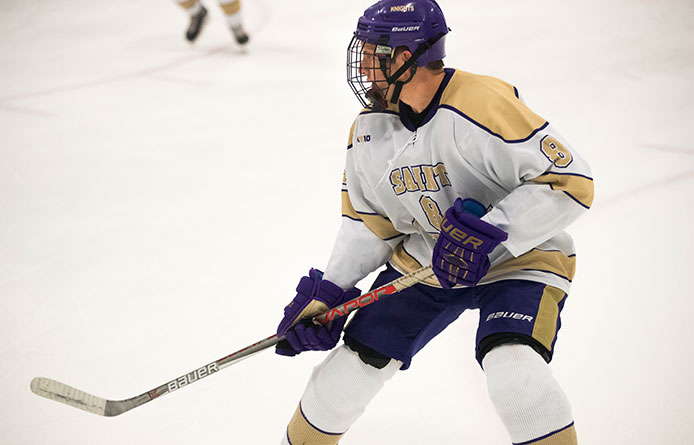 Men's Ice Hockey Loses to Franklin Pierce, 3-0, Clinches Home Semifinal Contest