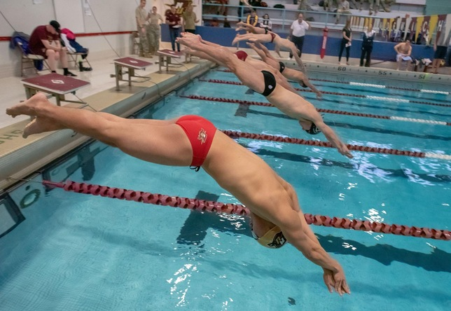 Swimming & Diving: Norwich Men Lead, Women Fourth After Day Two at GNAC's
