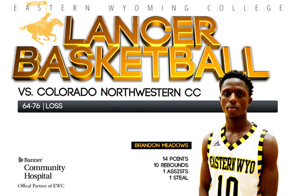 Eastern Wyoming College Lancer Basketball team vs. Colorado Northwestern CC