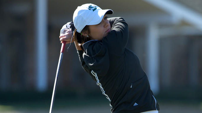 WOMEN'S GOLF SURGES INTO FIRST PLACE TIE AT BIG SKY CHAMPIONSHIP