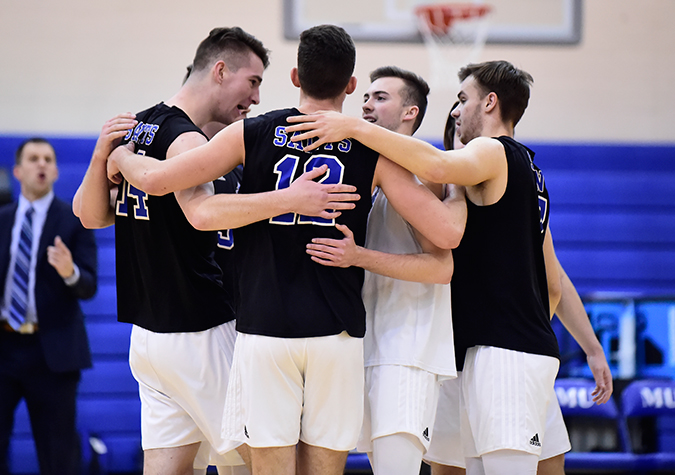 Men's volleyball grabs 22 more points, holds at No. 11 in latest AVCA ranking