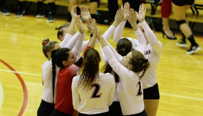 Muskingum Volleyball conquers the Marietta Pioneers