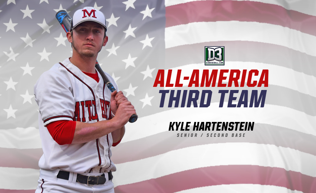 Hartenstein Tabbed All-American by D3Baseball.com