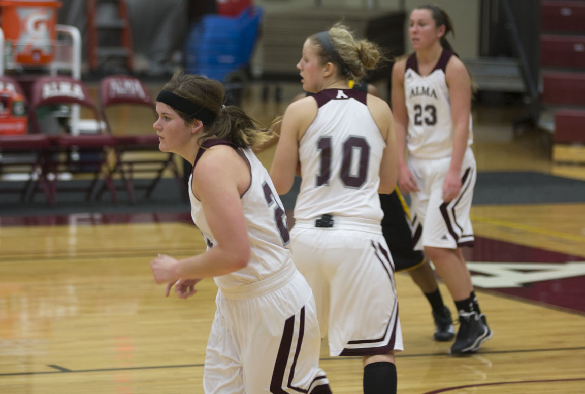 Alma Women's Basketball comes up short, 77-68, against Adrian College on Saturday at Art Smith Arena