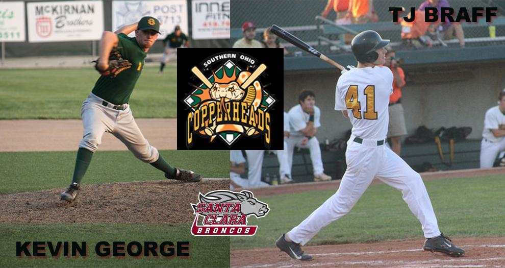Baseball's Braff, George Featured in Article with Southern Ohio Copperheads