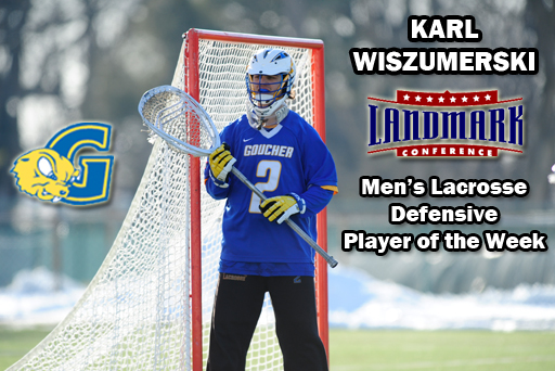 Junior GK Earns Landmark's Weekly Honor